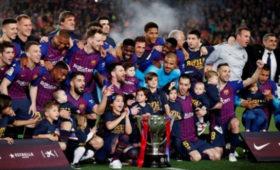 «Барселона» в26-йразстала чемпионом Испании