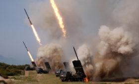 Северокорейские СМИ опубликовали фото новых учений с запуском ракет