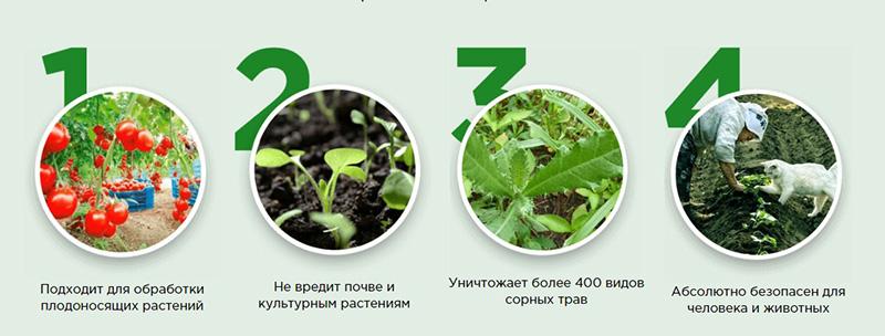 Биогард от сорняков преимущества