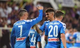 «Наполи» обыграл «Фиорентину» вСерии А, команды забили семь мячей надвоих