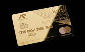 В Великобритании выпустили платежную карту из 18-каратного золота