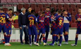 Футболисты «Барселоны» поругались сглавным тренером после игры с«Сельтой»