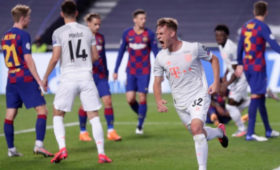 «Бавария» забила «Барселоне» восемь мячей ивышла вполуфинал ЛЧ