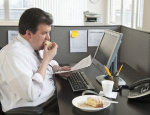причина ожирения - малоподвижность