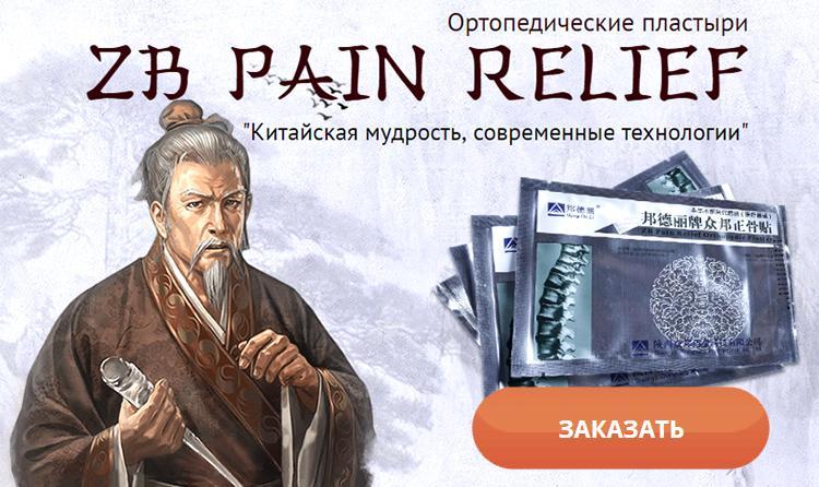 Заказать пластырь Zb Pain Relief на официальном сайте